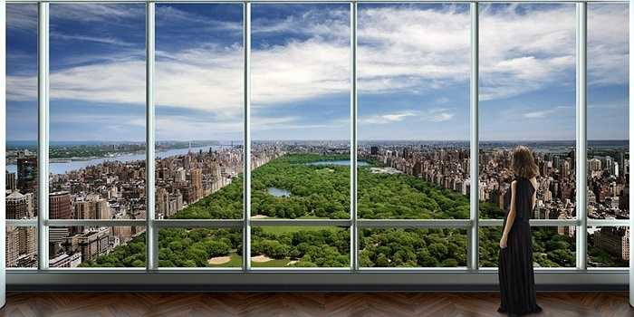 Còn đây là tầm nhìn tuyệt đẹp về hướng Công viên Trung tâm, New York