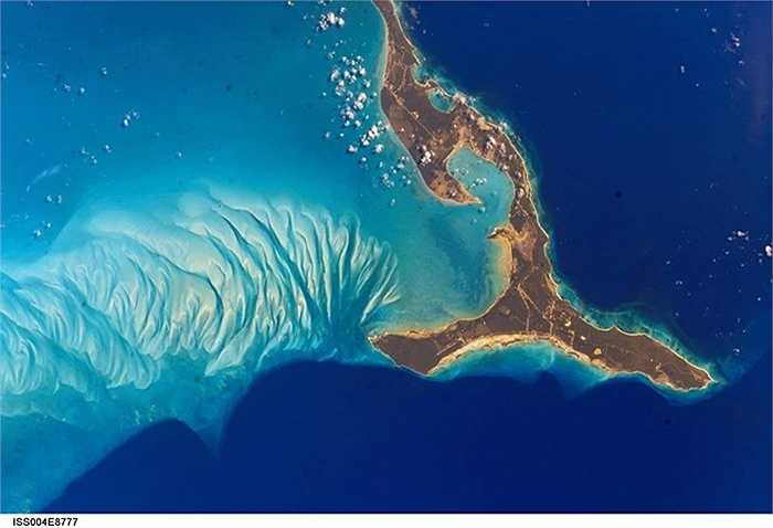 Đảo Eleuthera nhìn từ trạm ISS