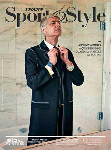 HLV Arsen Wenger xuất hiện trên tạp chí L'Equipe (phiên bản Sport & Style) đầy lịch lãm.