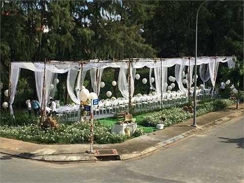 Địa điểm tổ chức tiệc là một công viên gần nhà Phan Như Thảo