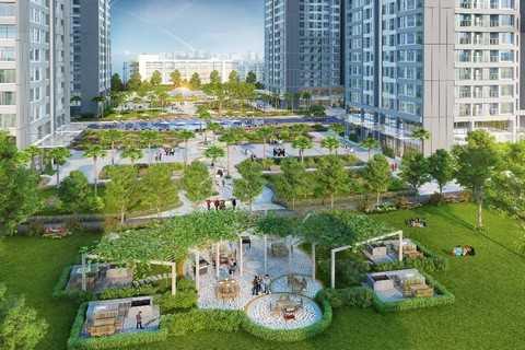 Vườn BBQ và các cảnh quan xanh gần tòa Park 11 mang tới không gian