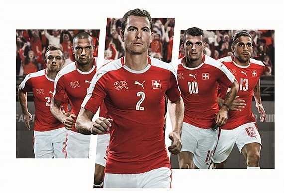 Thụy Sỹ sau khi giành vế chính thức đi tiếp cùng ĐT Anh cũng sớm trình làng áo đấu mới