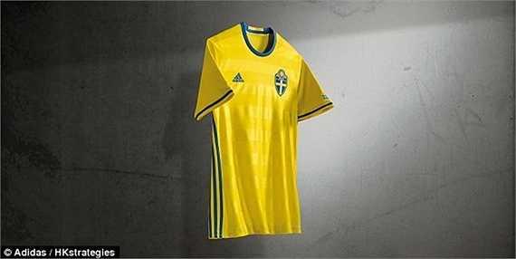 Áo đấu Euro 2016 của ĐT Thụy Điển