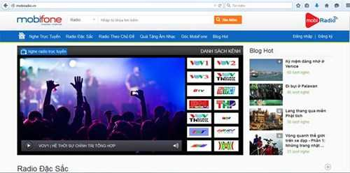 Dịch vụ Mobi Radio có tới 400.000 khách hàng dử dụng sau hơn 2 tháng hoạt động