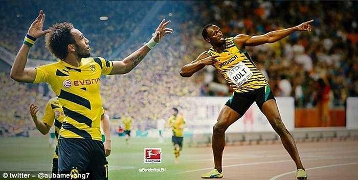 Chân sút của Dortmund còn gây ấn tượng đặc biệt ở tốc độ khủng khiếp. Thống kê cho thấy, Aubameyang có thể tăng tốc trong vòng 30m nhanh hơn cả 'tia chớp' Usain Bolt