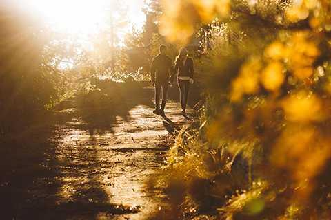 Sau khi thực hiện bộ ảnh cưới tại Đà Nẵng, Lương Thế Thành và Thúy Diễm đã lên đường sang Mỹ để tiếp tục chụp ảnh cưới. Hình ảnh cặp đôi nắm tay nhau trong ánh chiều vàng đẹp lung linh khiến người xem thích thú.