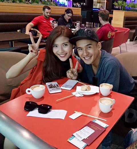 Sau khi kết thúc buổi chụp hình, cặp đôi vui vẻ cùng nhau đi thăm thú nhiều nơi tại Mỹ.