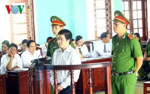 Trùm ma túy Tàng Keangnam tại phiên tòa sơ thẩm hồi tháng 8.