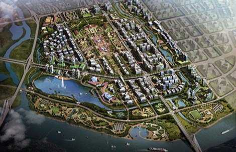 Phối cảnh tổng dự án Trung tâm hành chính TP Hải Phòng
