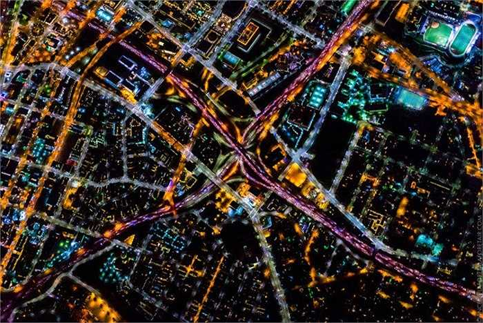 Hình ảnh chụp thành phố Losangeles về đêm