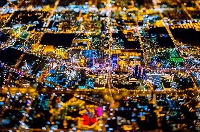 Lasvegas sáng rực trong đêm với nhiều casino, khách sạn, khu giải trí hấp dẫn nhất hành tinh