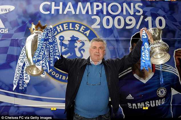Ancelotti từng có quãng thời gian ngắn ngủi dẫn dắt Chelsea nhưng đủ để có cú đúp danh hiệu