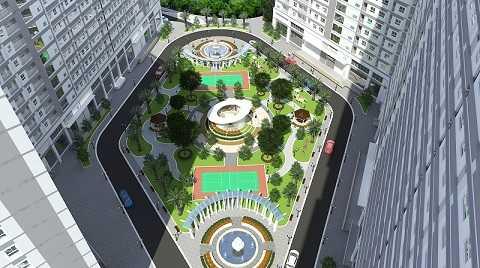 Dự án Xuan Mai Sparks Tower xây dựng xong sẽ có thêm nhiều không gian xanh cho cư dân