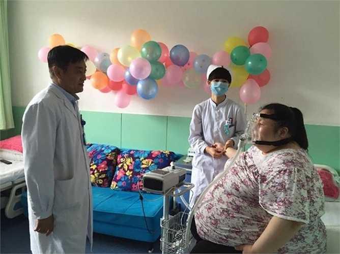 Qianqian đã tiến hành phẫu thuật thu nhỏ dạ dày hồi đầu tháng này