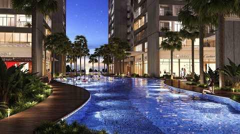 Bể bơi ngoài trời dài gần 80m tại Park Hill PREMIUM là nơi thư giãn lý tưởng cho cư dân.
