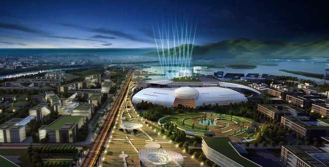 Điểm nhấn của Trung tâm hành chính mới tỉnh Khánh Hòa được xây dựng theo hình tượng tổ yến. Trong đó, tòa nhà chính quyền được tạo hình khối như một quả trứng khổng lồ đang nở, phía trên có mái vòm.