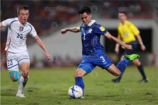 Ở trận đấu này, đội trưởng Theerathon có một tình huống xử lý xuất chúng. Giữa vòng vây 5 cầu thủ Đài Loan TQ trước vòng cấm đội nhà, Theerathon vẫn bình tĩnh đoạt được bóng và tổ chức phản công