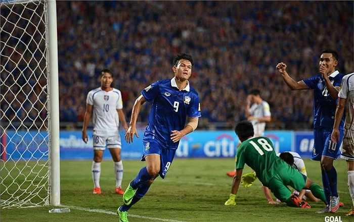 Thắng 4, hòa 1 sau 5 trận, Thái Lan có được 13 điểm. Xếp ngay sau họ là Iraq thắng 1, hòa 2 sau 3 trận và có 5 điểm