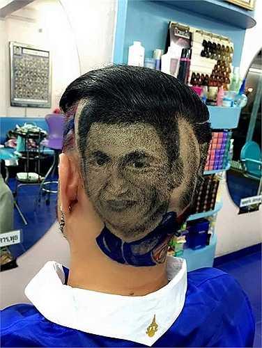 Cổ động viên cắt tóc, tạo hình Kiatisak