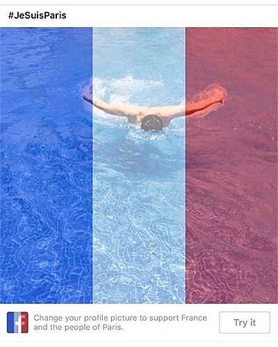 Mạng xã hội Facebook tạo tính năng giúp người dùng cài đặt avatar có màu cờ  Pháp để tưởng nhớ các nạn nhân vụ khủng bố