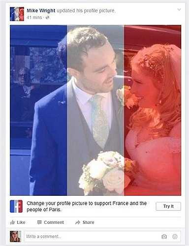 Nhiều người dùng Facebook sử dụng tính năng này như một hành động sẻ chia với nước Pháp