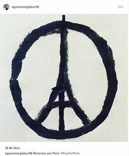 Nhiều ngôi sao nổi tiếng thế giới đăng tải các bức ảnh có biểu tượng tháp Eiffel để cầu nguyện cho Paris
