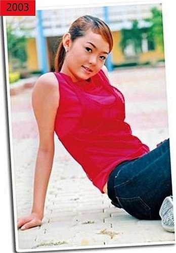 Năm 2003, Minh Hằng sở hữu gương mặt ưa nhìn khi mới bước chân vào con đường nghệ thuật. Khi ấy, cô vẫn chưa có được thân hình hoàn hảo và làn da tối màu.