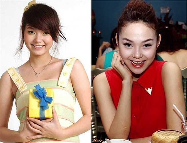 Gương mặt Minh Hằng ngày càng khác xa 'bản gốc'.
