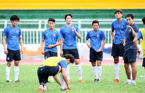 U.19 Hàn Quốc là đội đến TP.HCM sớm nhất, từ ngày 14/11 (Ảnh: Khả Hòa)