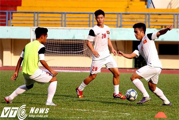 U21 Việt Nam đang tích cực tập luyện để chuẩn bị cho giải U21 Quốc tế Báo Thanh Niên cúp CLEAR MEN