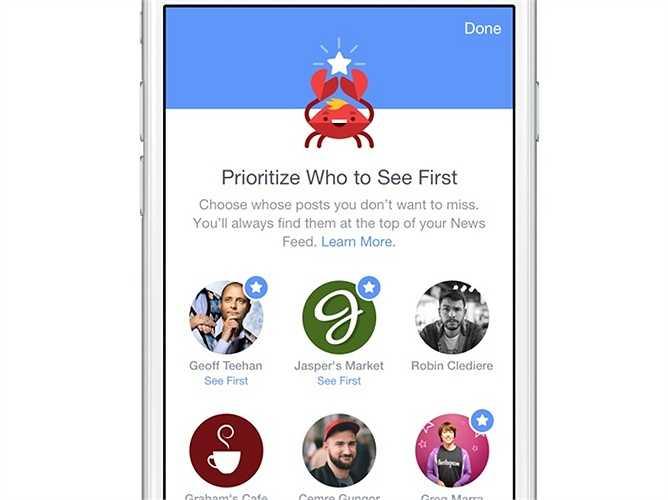 Chọn lọc cập nhật thông tin về những người dùng, fanpage. Hãy theo đường dẫn Settings > More > News Feed Preferences để lựa chọn ra những người mà bạn muốn theo dõi nhất trên Facebook để luôn nhận được thông tin mới