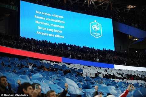 Quốc ca Pháp sẽ được cử vào cuối tuần này ở Premier League