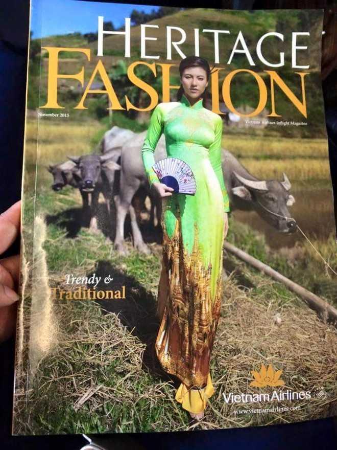 Bức ảnh bìa tạp chí Heritage Fashion tháng 11 bị hành khách Myanmar chỉ trích dữ dội