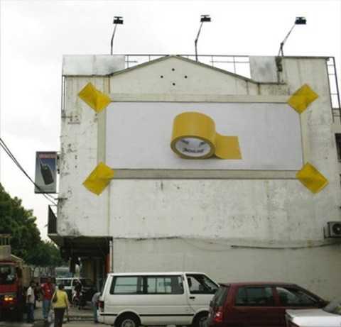 Một quảng cáo trực quan, sinh động của hãng băng dính.