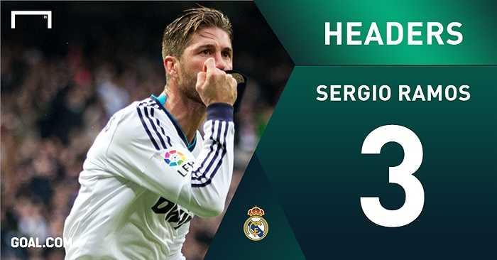 Sergio Ramos 3 lần ghi bàn bằng đầu trong các trận siêu kinh điển - một kỷ lục
