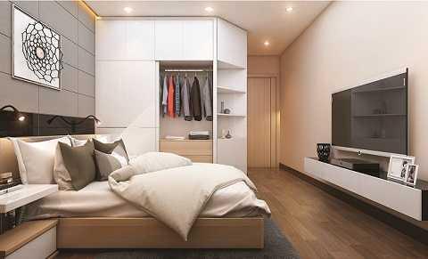 Hé lộ hình ảnh phòng ngủ căn hộ mẫu Xuan Mai Sparks Tower