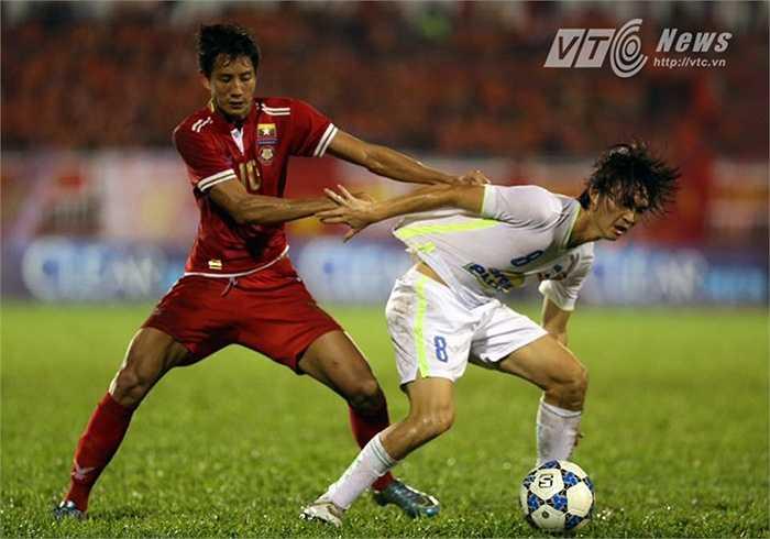 Tuấn Anh chí là cầu thủ U21 HAGL để lại ấn tượng mạnh nhất với HLV U21 Myanmar. (Ảnh: Quang Minh)