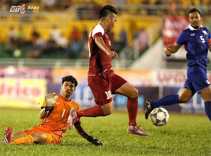 Tuấn Tài chơi khá hay trong màu áo U21 Việt Nam.(Ảnh: Quang Minh)