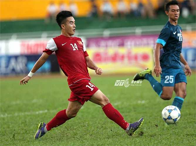 Nòng cốt là U21 Hà Nội T&T nên U21 Việt Nam chơi rất nhuần nhuyễn.(Ảnh: Quang Minh)