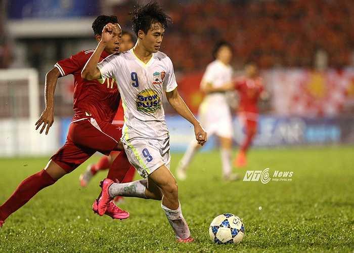 Văn Toàn là 1 trong 6 cầu thủ U21 HAGL lên U23 Việt Nam vào tháng 12 tới. (Ảnh: Quang Minh)