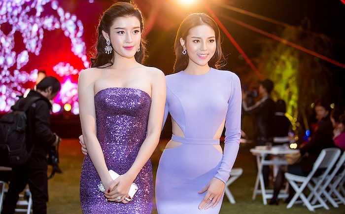 Hoa hậu Kỳ Duyên và Á hậu Huyền My vừa đến tham dự một sự kiện tại một khách sạn 5 sao ở Hà Nội.