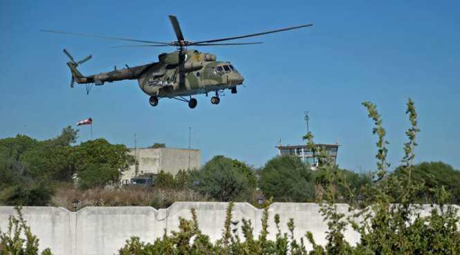 Trực thăng Nga bị bắn tan tành