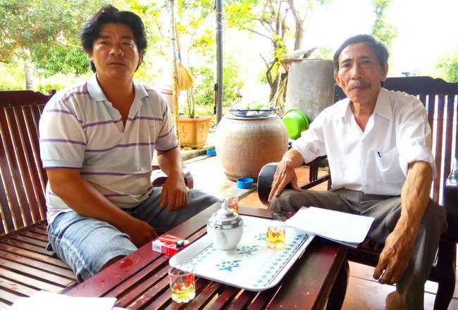 Ông Nguyễn Phúc Thành , người tố cáo rằng Nguyễn Thọ giết bà Lê Thị Bông chứ không phải ông Huỳnh Văn Nén giết - Ảnh: Ng.Nam