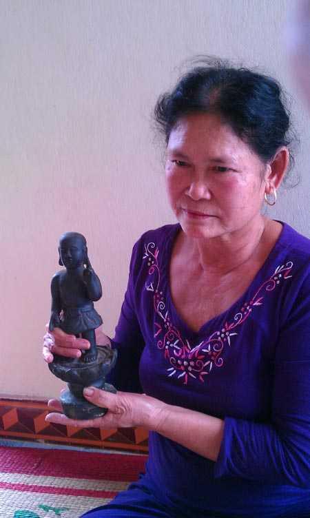 Pho tượng được đồn thổi là đồng đen thuộc sở hữu của một phụ nữ ở Hải Dương