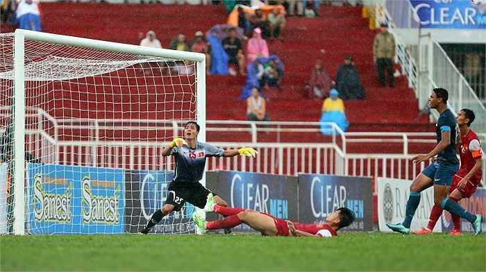 Nỗ lực của U21 Việt Nam được đền đáp ở trận đấu cuối cùng vòng bảng khi họ vượt qua U21 Singapore để đoạt ngôi nhất bảng A.