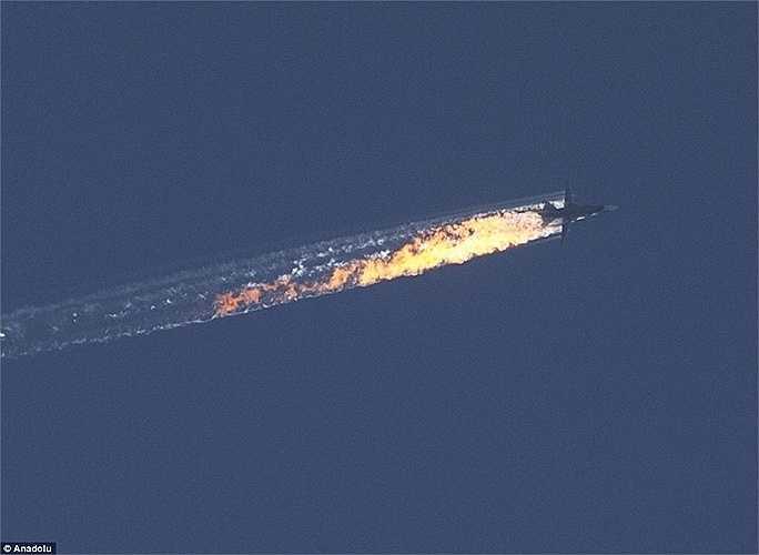 Phía Thổ Nhĩ Kỳ cáo buộc SU-24 đã vi phạm không phận nước này, trong khi phía Nga kiên quyết bác bỏ. (Nguồn: Anodolu)