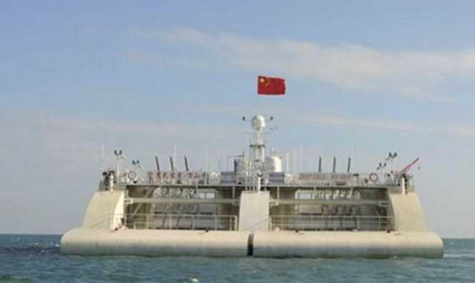 Trạm phát điện nổi của Trung Quốc được thử nghiệm ngoài khơi khu khai thác phát triển Vạn Sơn, Quảng Đông
