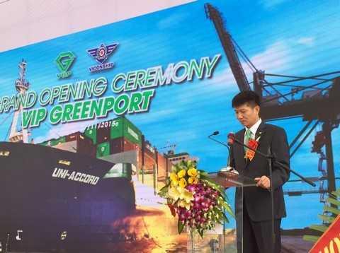 Ông Nguyễn Văn Tiến- Tổng giám đốc công ty Viconship kiêm Chủ tịch HĐQT công ty cp cảng Xanh VIP