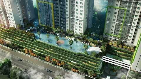 Bể bơi vô cực nhìn từ trên cao