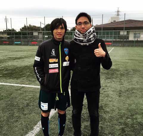 Một du học sinh người Việt tới sân tập của Yokohama theo dõi Tuấn Anh tập luyện